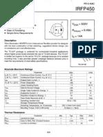 Mosfet IRFP450 Datasheet