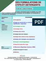 Formation Continue Analyse Des Tensioactifs Et Detergents