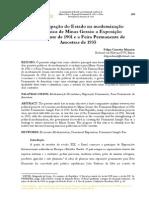 A participação do Estado na modernização  econômica de Minas Gerais
