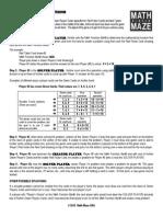 math maze instructions  2013 copy