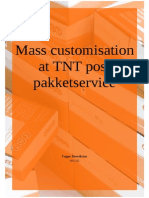 Mass Customisation at TNT Post Pakketservice