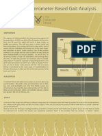 Accelerometer based gait analysis