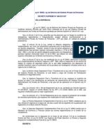 Reglamento de la Ley N° 29903, Ley de Reforma del Sistema Privado de Pensiones