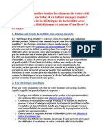 Dietetique de La Fertilite