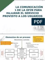 NORMAR LA COMUNICACIÓN INTERNA DE LA OFIN PARA MEJORAR EL SERVICIO PROVISTO A LOS USUARIOS