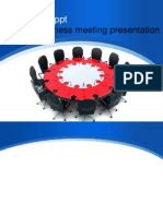 Business Meeting Presentation Template