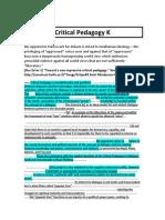 (Anderson) Critical Pedagogy K