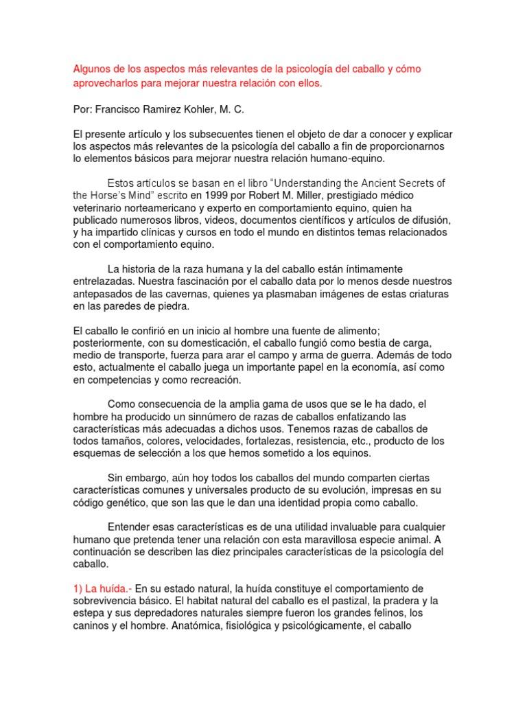 DOMA Y COMPORTAMIENTO EQUINO(Articulos Extraidos de Caballo.tv y ...