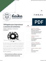 10 Regalos Para Impresionar a Amantes de La Bicicleta - Baika