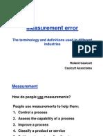 BIS Measurement Error R Caulcutt