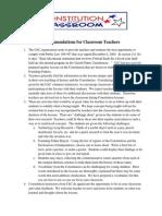 11-1 teacher recommendations