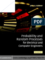 J. a. Gubner (2006). Probability and Random Processes for Electrical and Computer Engineers