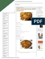 Achu's Amma's Kitchen_ Chilli Mushroom Gravy (Chilli Mushroom)