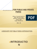 Landscape for Public and Private Parks