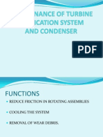 MAINTENANCE OF TURBINE  LUBRICATION SYSTEM AND CONDENSER.ppt