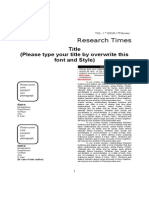 Sample File Format for English Paper