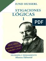 Edmund Husserl - Investigaciones Lógicas (libro I)