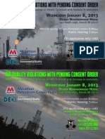 MDEQ Marathon Petroleum Public Hearing on 2013-01-08