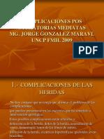 2.-COMPLICACIONES POSOPERATORIAS MEDIATAS