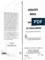 Simpson 260-6 and 6m User Manual