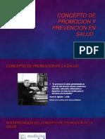 Concepto de Promocion y Prevencion en Salud