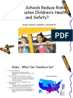 how can schools reduce risks that threaten childrens