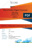 Comscore India-The Rise of India's Digital Consumer Aug 2012