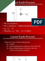 Lateral Earth Pressure