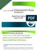 August 25, 2009 OCP Workshop Presentation
