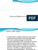 Topic 1.Nature and Significance of Leadership