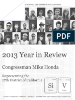 2013 Year in Review by Rep. Mike Honda