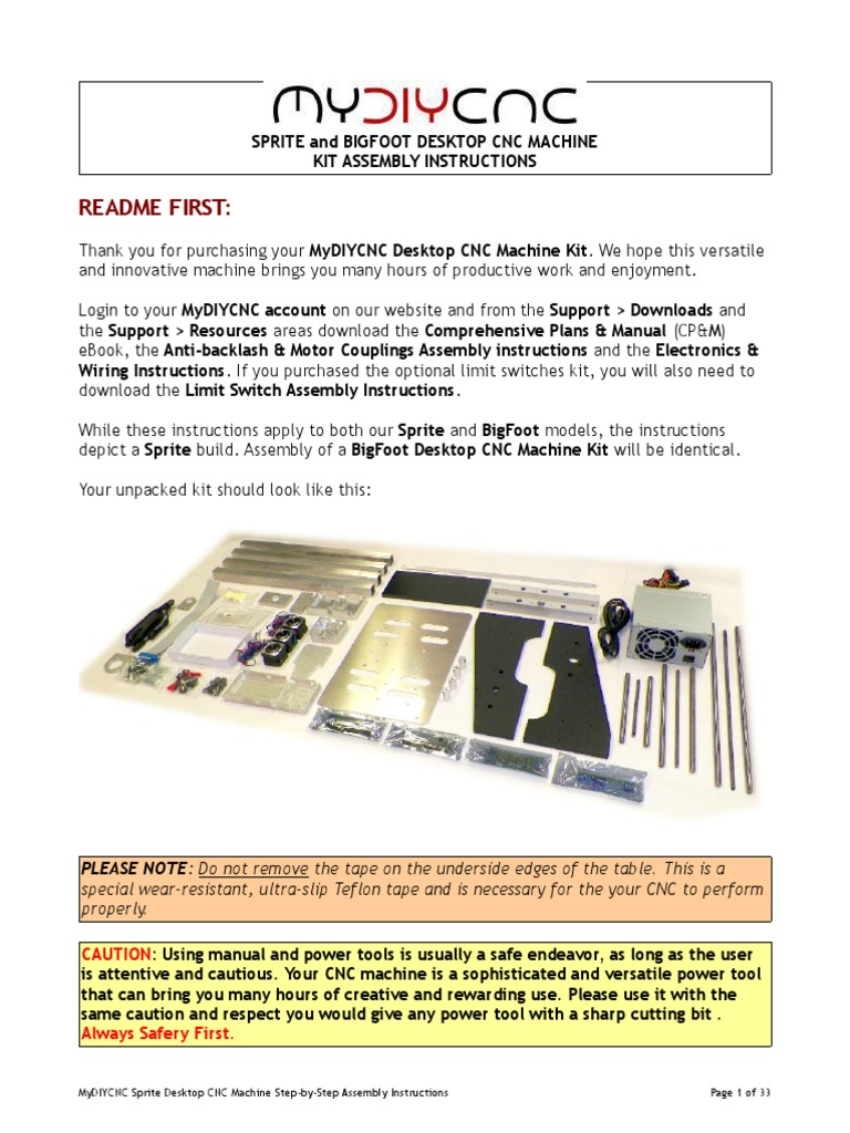 Mydiycnc Desktop Cnc Machine Kit Assembly Instructions Screw Wiring Schematic Bearing Mechanical