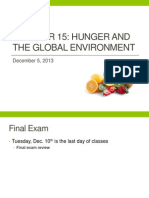 Chp 15 Hunger and the Global Environment
