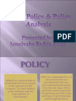 Public Policy and Policy Analysis