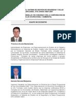 Equipo de Docentes Del Diplomado NTC-OHSAS 18001 (2009)