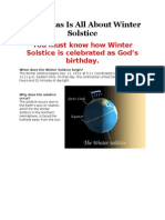 How is Winter Solstice Tied to Christmas