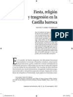 Fiesta, religión y transgresión en la castilla Barroca Miguel Gómez Vozmediano