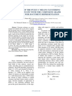 EXTENSION OF THE FUZZY C MEANS CLUSTERING ALGORITHM TO FIT WITH THE COMPOSITE GRAPH MODEL FOR WEB DOCUMENT REPRESENTATION