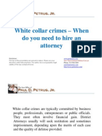White collar crimes – When do you need to hire an attorney
