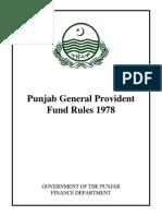 GPF Rules1978 Punjab