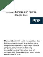 Analisis Korelasi Dan Regresi Dengan Excel Xsuk25