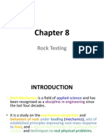 Chapter 8 - Rock Testing