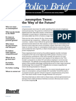 Consumption Taxes the Way of the Future