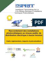 ESPRIT Raccordement Des Centrales PV Au RPD BT en France