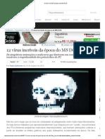 12 vírus incríveis da época do MS DOS