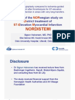 NORDISTEMI - Results of the NORwegian study on District treatment of ST-Elevation Myocardial Infarction