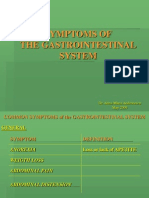 15. Symptoms of the Gastro-Intestinal System