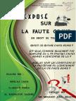 Expose Sur La Faute Grave