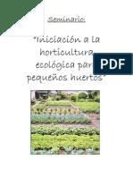 Anon - Iniciacion A La Horticultura Ecologica Para Peque±os Huertos Pdf
