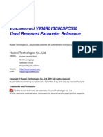 Used Reserved Parameter List
